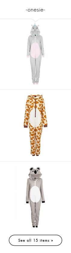 """-onesie-"" by princessrover ❤ liked on Polyvore featuring pajamas, pijamas, bottoms, dresses, one piece, intimates, sleepwear, onesie, giraffe print pajamas and all in one pyjamas"