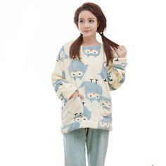 XXL Büyük Boyutu Flanel Kış Kadın Pijama Setleri Pijama Mujer Artı Boyutu Pijama Feminino Pembe Pijama Pijama Kadın Pijama