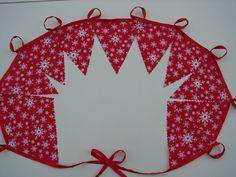 2 meters christmas snow flake frozen christmas bunting