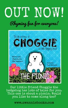 Our latest rhyming tale is out now. Join Choggie the hedgehog as he goes on a picnic. Learn To Read, Large Prints, Childrens Books, Hedgehog, Picnic, Join, Picture Books, Writing, Learning