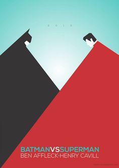 Alternative movie poster for Batman vs. Superman by Lindsay Silveira