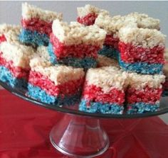 4th of July Rice Krispy Treats ♥