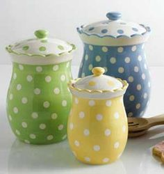 Tea Party Polka Dot Canister