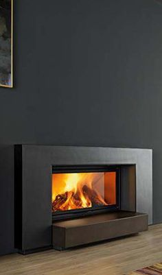 Range Calore Sustainable Energy Home decorating-fireplace Fireplace Feature Wall, Stone Fireplace Surround, Concrete Fireplace, Modern Fireplace, Brick Fireplace, Living Room With Fireplace, Built In Electric Fireplace, Contemporary Fireplace Designs, Renewable Energy