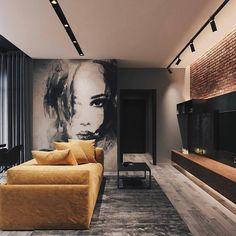 Modern Loft designed by Leonid Sizikov Loft Interior Design, Loft Design, Interior Architecture, Interior Decorating, House Design, Decorating Tips, Interior Design Yellow, Decorating Websites, Loft Stil