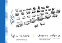 https://flic.kr/p/GrNmYy | Chaos Lore · Edificios 01 | Edicifios civiles para el juego Chaos Lore realizado en Unity 3D.  Modelado con Trimble SketchUp.