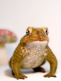 Needle Felted Toad Felted Toad Sculpture Life by YvonnesWorkshop, $150.00