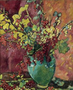 Louis Valtat ~ Fauve painter- Currants In The Green Musica Henri Matisse, Monet To Matisse, Maurice De Vlaminck, Trondheim, Still Life Flowers, Still Life Art, French Artists, Beautiful Paintings, Flower Art