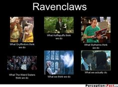 Ravenclaws... - What people think I do, what I really do - Perception Vs Fact