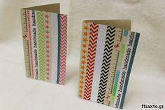 Χειροποίητες κάρτες με washi tape για κάθε περίσταση! Φτιάξτες εύκολα και γρήγορα με τις οδηγίες από το ftiaxto.gr