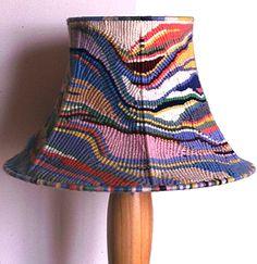 Free-form Cavandoli Macrame Lamp by Keith Russell