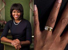 Michelle Obamas wedding set looks like a Tiffanystyle sixprong