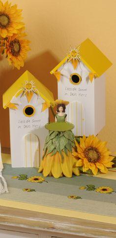 Tischband mit Sonnenblumen Design . Gerlinde Gebert Shop: www.gebert-handarbeiten.de