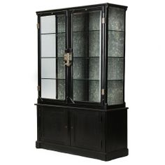 Fine Cast Iron Cabinet - great for man's bathroom H 6 ft 6 in W 4 ft o.5 in D 14.5 in Wyeth