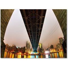 Trademark Fine Art Under the Queensboro Bridge Canvas Art by David Ayash, Size: 24 x 32, Multicolor