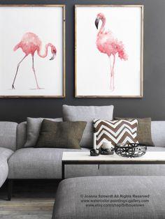 Flamingo Watercolor Painting | Etsy #watercolorarts