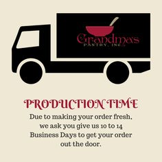 Just a friendly reminder that due to making your order fresh, orders can take 10 to 14 business days to get it out the door. If on day 15 you have not received an email for shipping, please let me know so I can check on your order. #LifeOfAGeekyMom #GrandmasPantry #GoodFood #Yum #Quickmeals #Quickrecipes #QuickDinner #Recipes #MadeToOrder #GlutenFree #Nopreservatives #Healthy