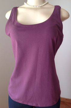 NIC Zoe Large Purple Plum Tank Cami Shell Sleeveless Stretch GUC | eBay
