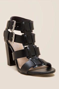 77accf4837e Madden Girl Herooo Strappy Buckle Block Heel Dress Sandals