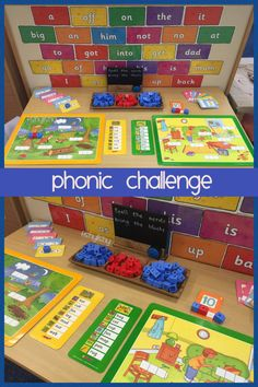 'Phonics' blocks on the challenge table Phonics Games, Phonics Reading, Teaching Phonics, Primary Teaching, Primary Education, Teaching Tools, Teaching Resources, Teaching Ideas, Year 1 Classroom