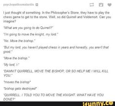Oh my gosh I heard the voices of AVPM Quirrel and Voldy