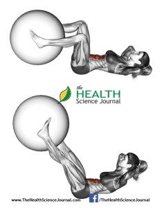 © Sasham   Dreamstime.com - Fitball exercising. Flexion of the trunk with the leg extension with ball. Female