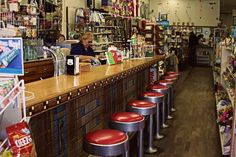 soda fountain like the one I worked at as a soda jerk