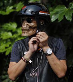 Ghost Rider biker helmet