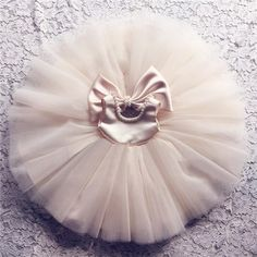 Buy Online at GIRLYSHOP.NET Cute Pearl Applique Round Neckline Sleeveless Knee Length Big Bow Back Baby Infant Toddler Little Girl Party Tutu Dress -FREE SHIPPING