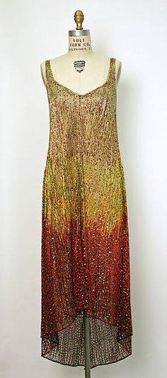 Evening dress, Designer: Halston (American, Des Moines, Iowa 1932–1990 San Francisco, California) Date: 1970s Culture: American Medium: nylon, plastic