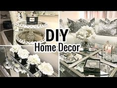 DIY Home Decor Ideas 2018 | Dollar Tree DIY Mirror Decor - YouTube