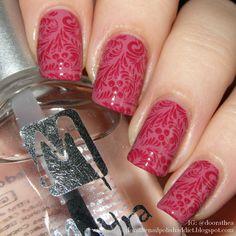 Dóra, the nail polish addict: Piros-pink nyomdázás   Moyra, Catrice, Pet'la Plate