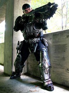 Marcus Fenix from Gears of War series cosplay.  Why, why can't I be this awesome and make a suit this realistic to this amazing series!