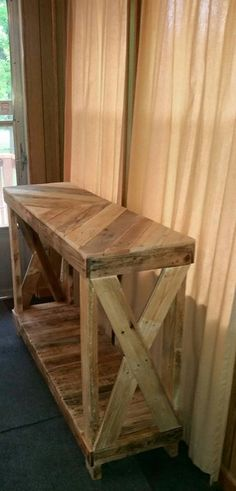 Another great idea for the entryway!  These have also been used as a TV stand as well as a sofa table.