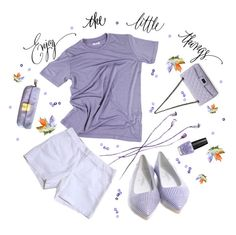 """Enjoy the little things."" by julesdiaries ❤ liked on Polyvore featuring Chanel, Miu Miu, OPI, casual, ootd and lilac"