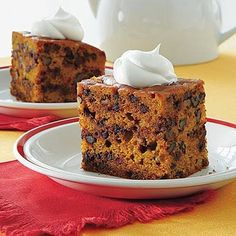 Pumpkin-Chocolate Chip Cake Recipe