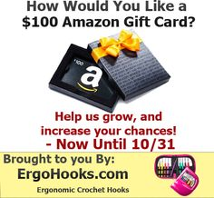 ErgoHooks $100 Amazon Gift Card Competition. Help us grow our new web store with multiple entries and chances.