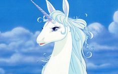 The Last Unicorn Unicorn Mom, The Last Unicorn, Beagle, Cute Fantasy Creatures, Rainbow Sky, Cartoon Profile Pics, Old Anime, Cute Animal Drawings, Disney And More