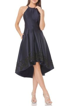Carmen Marc Valvo Infusion Sequin Satin Fit & Flare Dress available at #Nordstrom