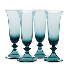 DvF High Rise Champagne Flutes in erawan blue