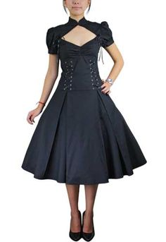 Lace-up Ruffles Dress (the site has loads of beautiful dresses in Victoriana, steampunk, goth, pin-up, etc. styles)