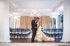 Chic Gold and Black Chanel Inspired Wedding in Atlanta - Munaluchi Bridal Magazine