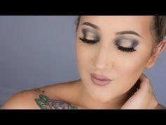 Smoky Blue & Gold   NAKED SMOKY PALETTE TUTORIAL - YouTube