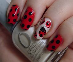 Ladybugs - Nail Art Gallery nailartgallery.nailsmag.com by NAILS Magazine www.nailsmag.com