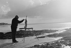 Serge Philippe Lecourt-Le peintre Michel Margueray-noir et blanc2