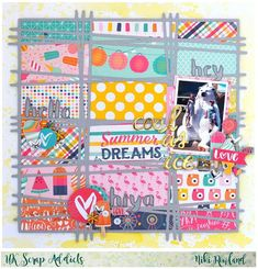 Looking for creative scrapbook ideas? Help yourself to this list we've had so much fun rounding up, so you can make creative memories from this year's photos and memorabilia! Scrapbook Designs, Scrapbook Sketches, Scrapbooking Layouts, Travel Scrapbook, Scrapbook Cards, Diy And Crafts, Paper Crafts, Heart Template, Visual Diary