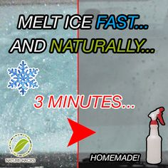 For any of my friends that still live in the snow.  How to Melt Ice Fast and Naturally
