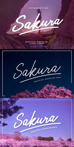 Sakura  Family #hand made #signature  • Download here → https://graphicriver.net/item/sakura-family/20541827?ref=pxcr