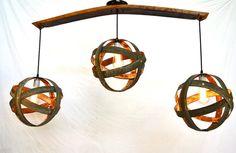 Wine Barrel Ring Atom Globe Hanging by winecountrycraftsman