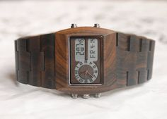 Wooden Watch For Women or Men Wood Watch Alarm by DOWOODwatch, $59.99